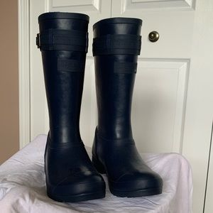 Sperry Navy Rain Boots NWOB Size 6